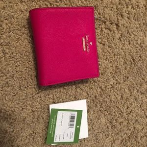 NWT Kate Spade Saffiano Leather Wallet in Pink